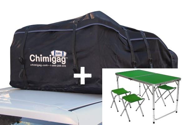 לחץ כאן לרכישת שולחן מתקפל וכיסאות+צ'ימיגג 520 ליטר