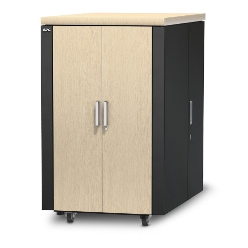ארון תקשורת NetShelter CX 24U Secure Soundproof Server Room in a Box Enclosure International AR4024IA
