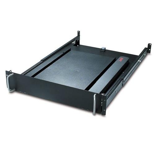 """מדף לארון תקשורת APC 19"""" Rotating Keyboard Drawer Black AR8127BLK"""
