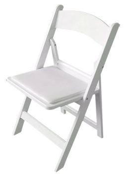 כיסא עץ מתקפל לבן - White folding chair