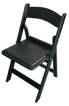 כיסא עץ מתקפל שחור - black folding chair
