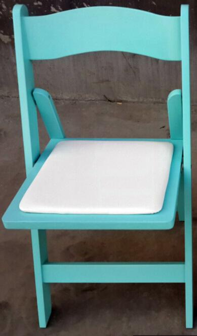 כיסא עץ מתקפל טיפני - Tiffany Blue Wood folding chair