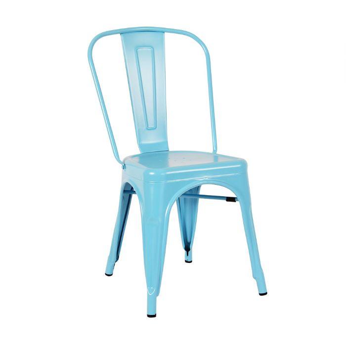 כיסא פח תכלת