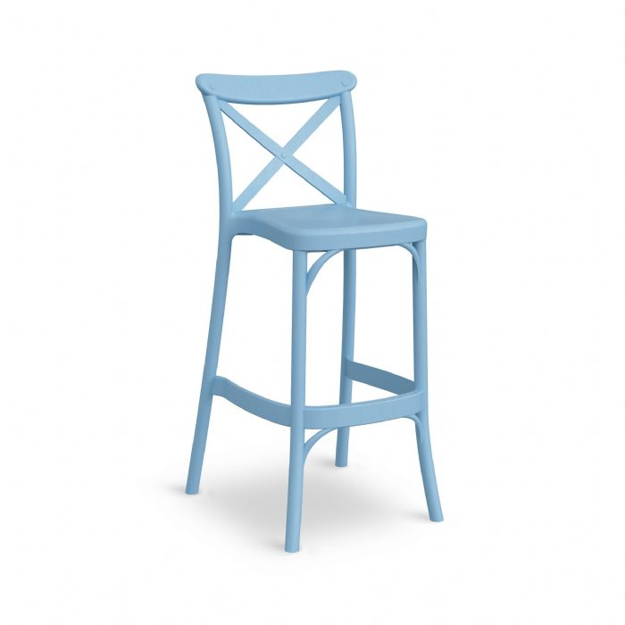 כיסא בר איקס תכלת