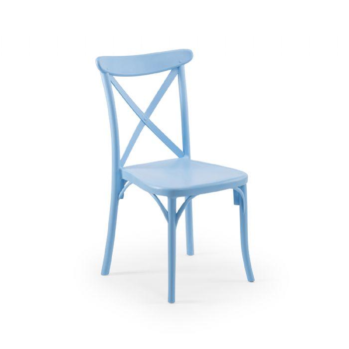כיסא איקס תכלת
