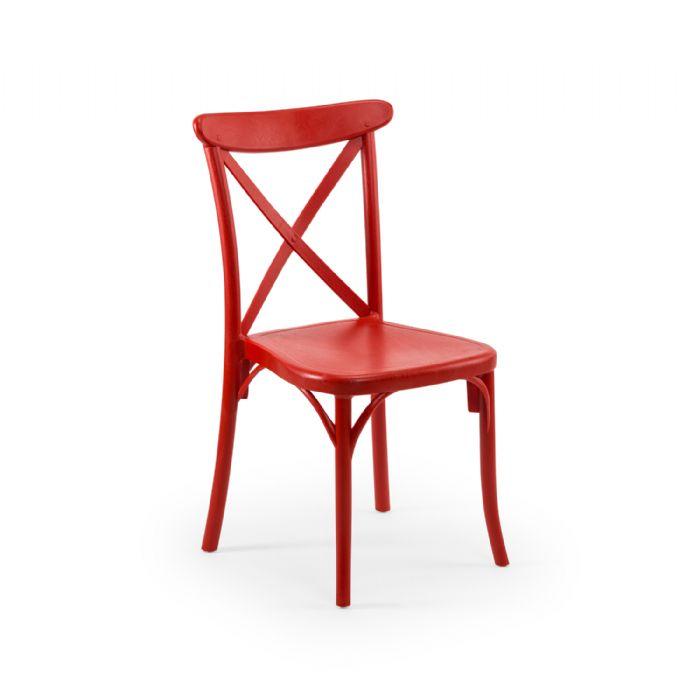כיסא איקס אדום