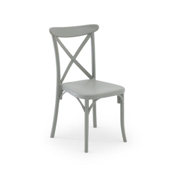 כיסא איקס אפור