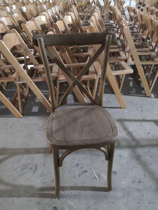 כיסא איקס עץ כהה