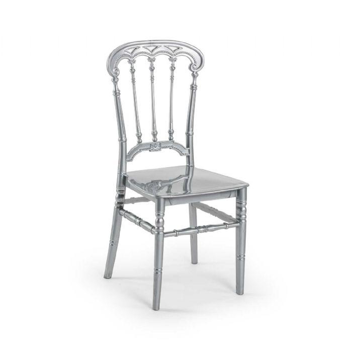 כיסא רומא כסף
