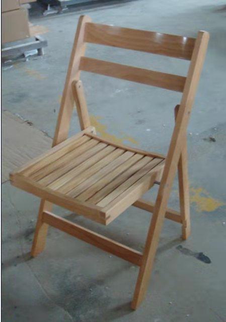 כיסא מתקפל מושב פסים טבעי