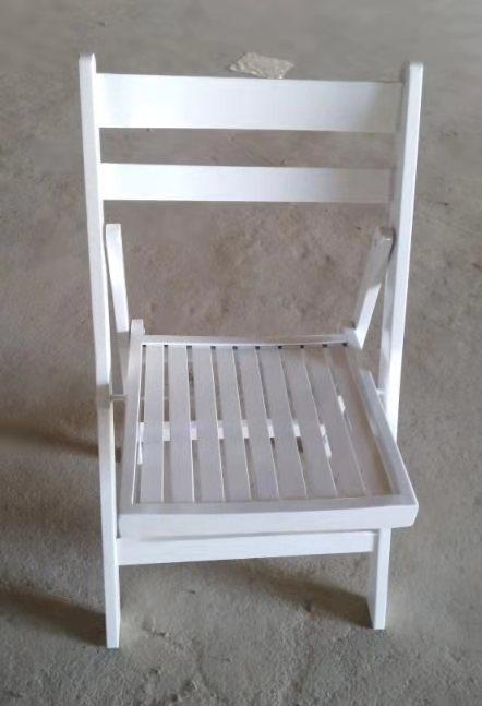 כיסא עץ מתקפל מושב שלבים (לבן) - ניתן לקבל בכל צבע