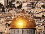 שאריות השלג בכיפת הזהב בירושלים
