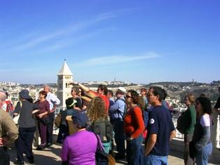 סיור מודרך בירושלים בתצפית