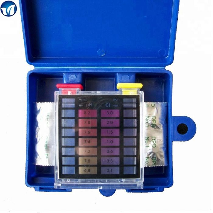 ערכת בדיקה לבריכה - מדידת כלור וpH עם כדורים
