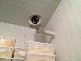 מצלמת אבטחה במקרר