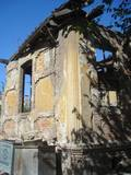 The ruins of the last synagogue of the Gallipoli community, now a site of garbage collection