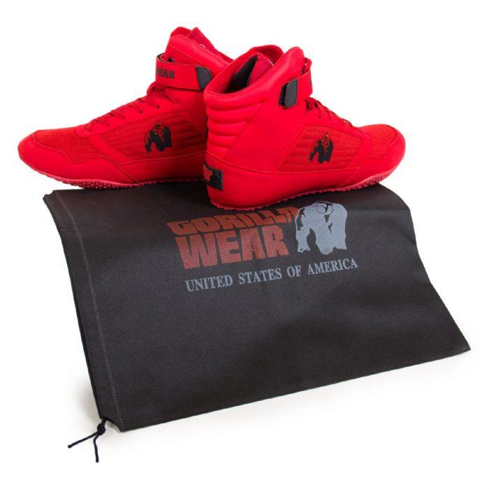 נעליים מקצועיות גבוהות למכון כושר של חברת GORILLA WEAR USA צבע אדום