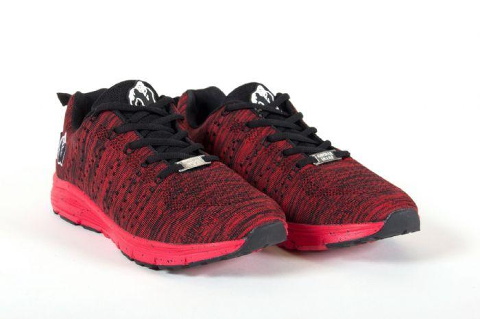 נעליים מקצועיות נמוכות למכון כושר של חברת GORILLA WEAR USA צבע אדום