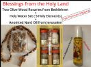 Two Bethlehem Rosaries + Holy Water Set + Free Anointed Nard Oil