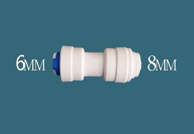 מחבר מעבר מים מצינור 6ממ לצינור 8ממ