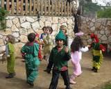 ילדי הגן בתחפושות פורים