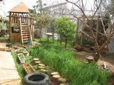 חצר הגן וחיטה ירוקה