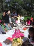 """משפחות עין בוסתן בחגיגות ט""""ו בשבט בחיק הטבע"""