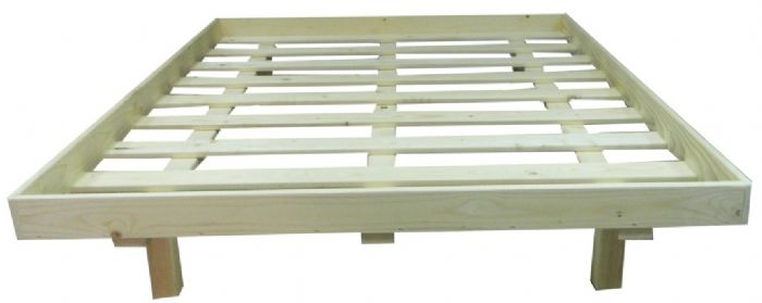 מיטה מעץ מלא עם מסגרת - אורטוגב