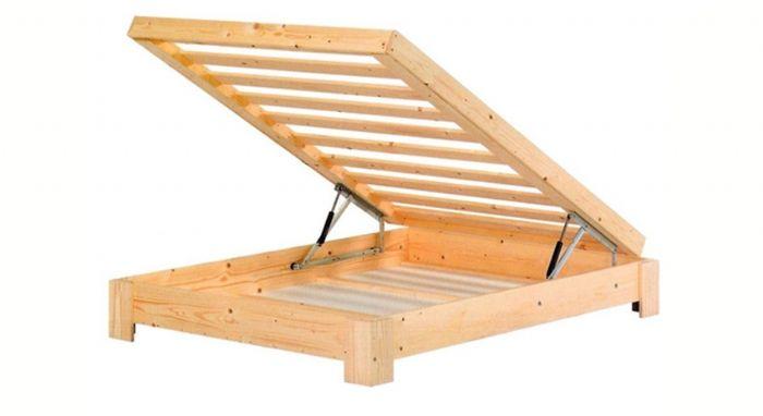 בסיס מיטה עץ עם ארגז מצעים - אולימפיה