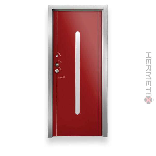 דלת כניסה – חריטה מעוצבת, בשילוב ניולק דלת קונספט מעוצבת, בשילוב אנודייז