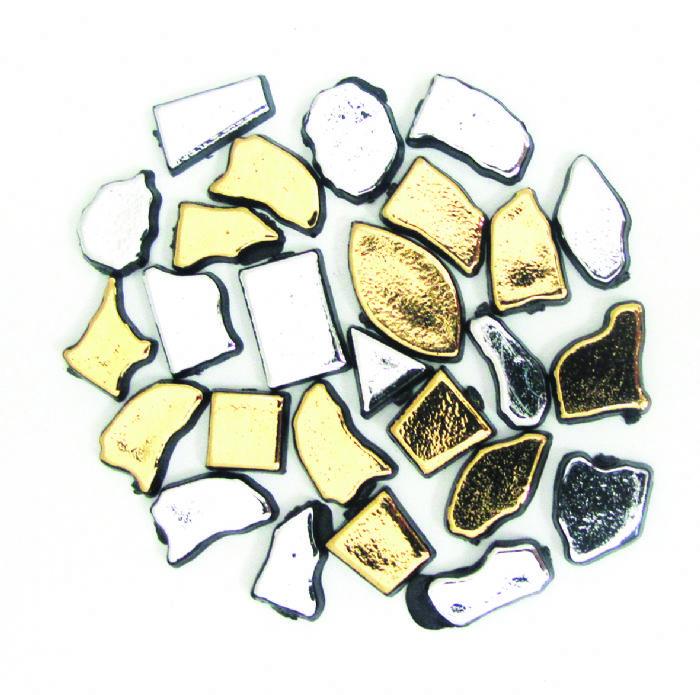 מוזאיקה כסף זהב