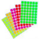 מדבקות זוהרות 25 דף מעורב צבעים