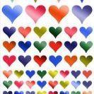 מדבקות לבבות מטלי-801