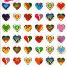 מדבקות לבבות- 692