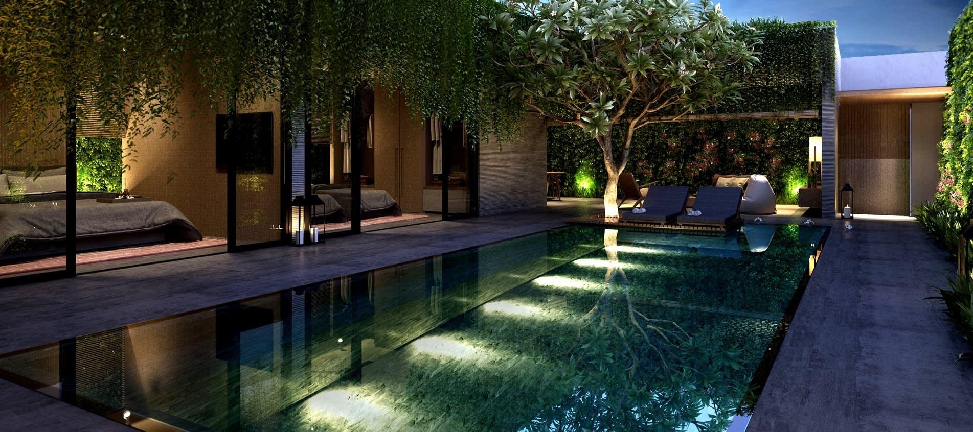 עיצוב עם תכנון בגינה פרטית