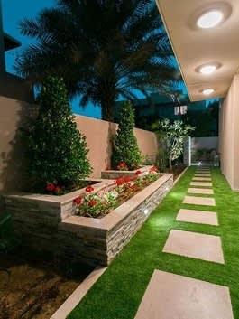 פתרון גינון בגינה אורכית