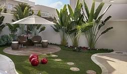 גינה ומדשאה בעיצוב מעוגל