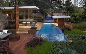 גינה ביתית בסגנון טרופי