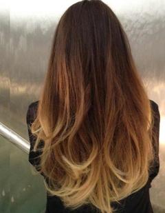 תוספות שיער ombre אומברה (שני גוונים)
