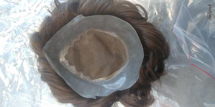 תוספת שיער לגבר דגם מונוטק #חום בינוני