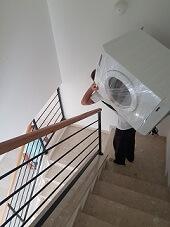 הובלת מכונת כביסה
