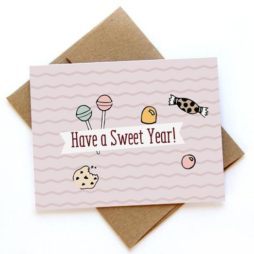 כרטיס ברכה -Have a sweet year