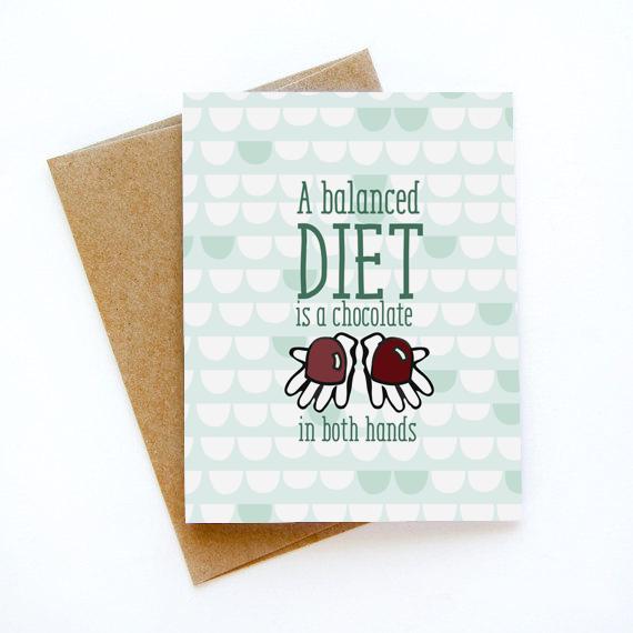כרטיס ברכה - A balanced diet