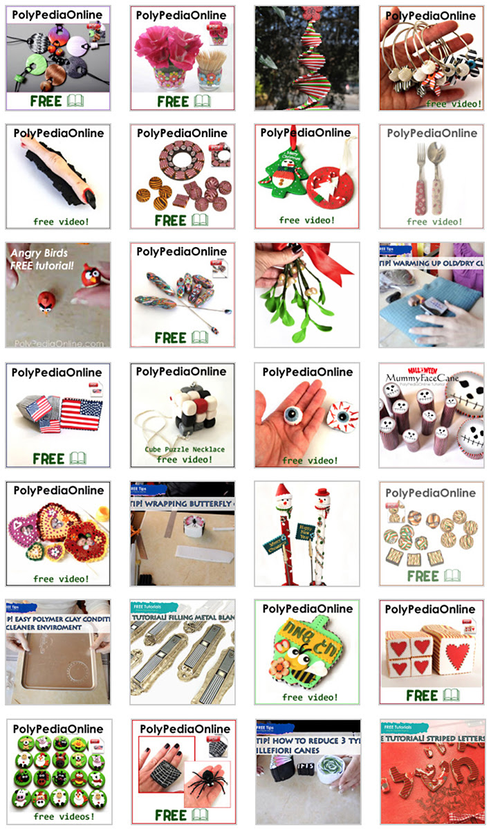 polymer clay tutorials by iris mishly