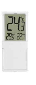 מד טמפרטורה לחלון מינימום מקסימום