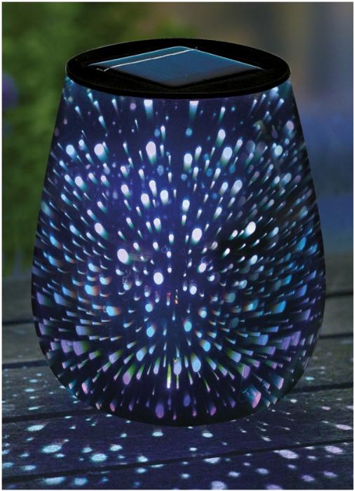 מנורת שולחן סולארית טיפה אפקט כוכבים L26268