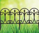 """גדר בסגנון פירזול צבע חלודה 240X32 ס""""מ מבית ביגרין"""