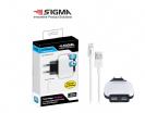 שנאי 2 אמפר 2 יציאת USB+כבל אייפון5+אריזת PVC SIGMA