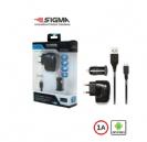 שנאי USB לרכב SIGMA באריזה דגם 02T4-SK02