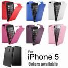 נרתיק עור איכותי דגם ארנק לאייפון 5c \ 5s \ 5 - מבחר צבעים